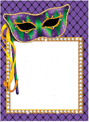 innbyding til karneval mardi gras invitation template | mardi gras, Birthday invitations