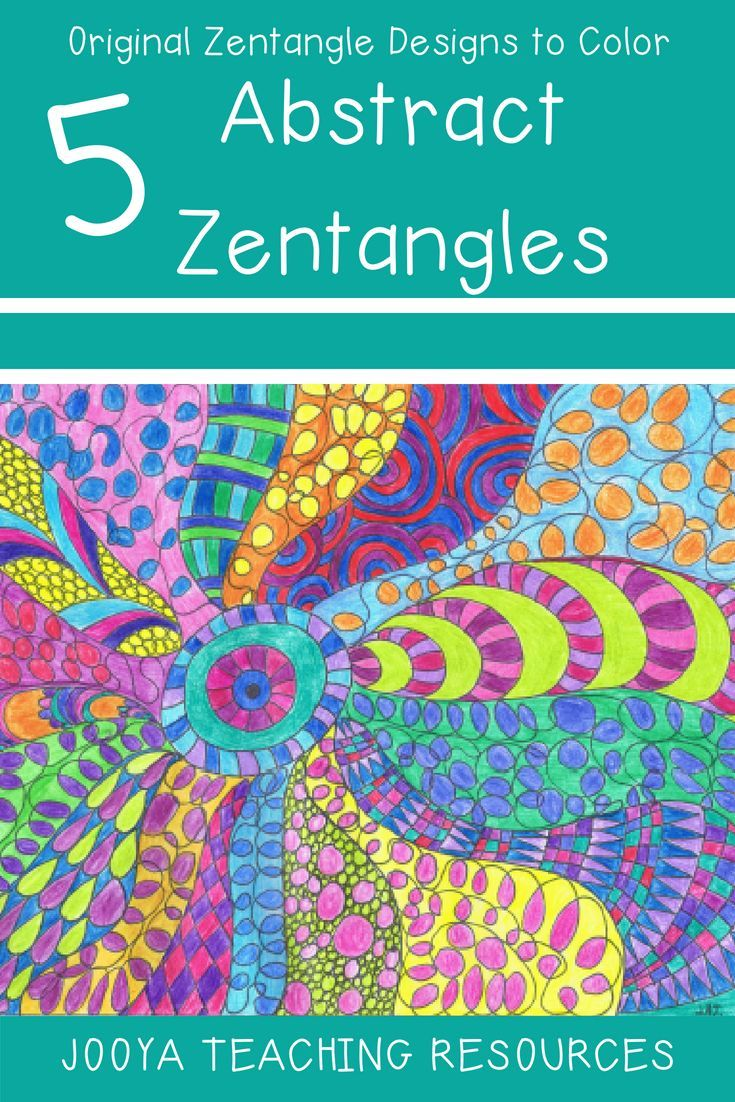 Zentangle Coloring Pages - Abtsract Designs | Early finishers ...