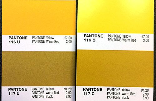 pantone ink differences depending on whether the paper is coated or uncoated a challenge for designers getting desired idees pour la maison idee pms 284 7500