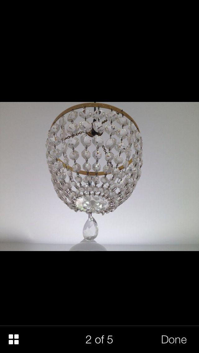 Nursery crystal chandelier
