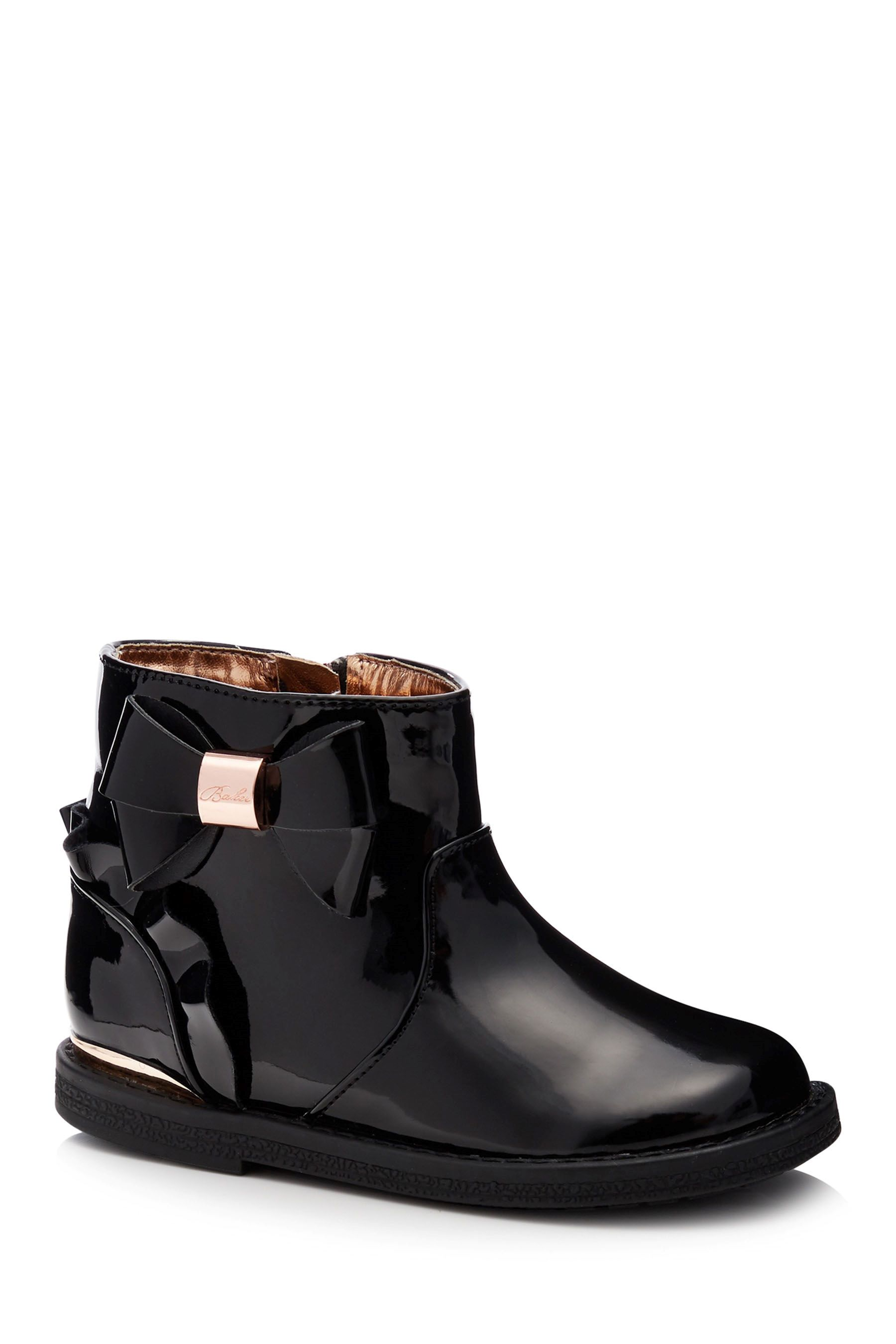 fbd724978cf Girls Baker by Ted Baker Patent Bktg Frill Boot - Black | Products ...