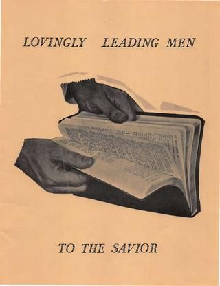 """Lovingly Leading Men to the Savior."" Jerry A. Jenkins' personal work book published in 1973."