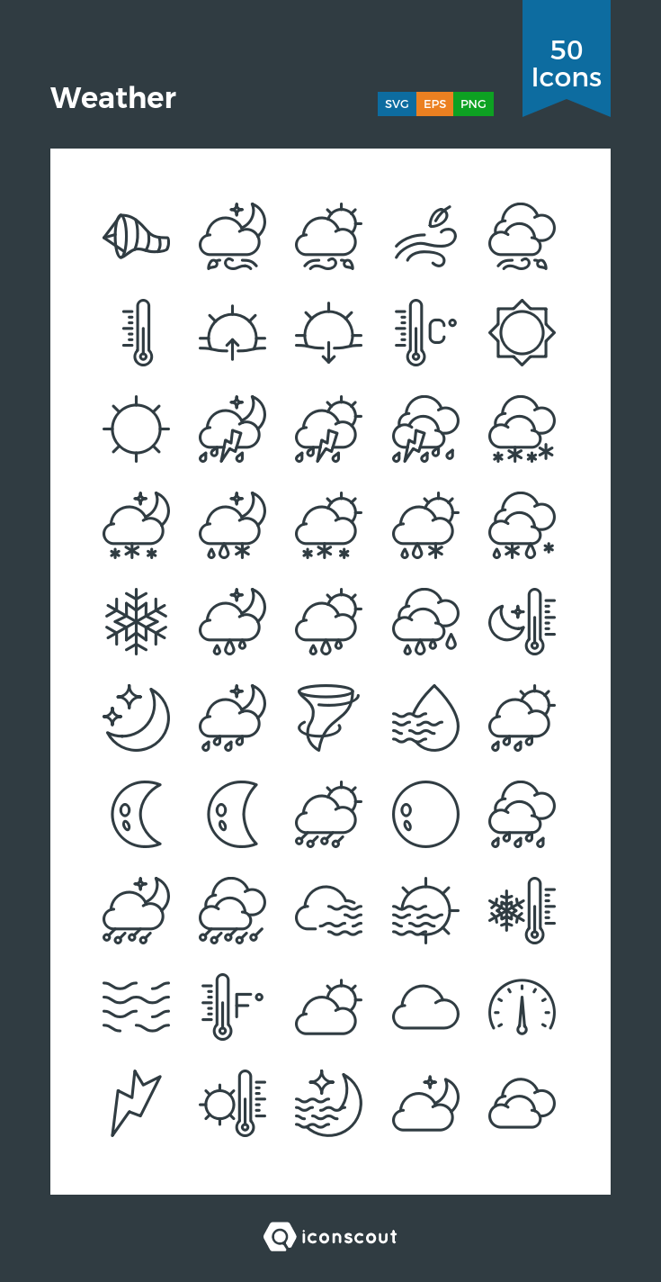 Download Weather Icon pack Available in SVG, PNG, EPS