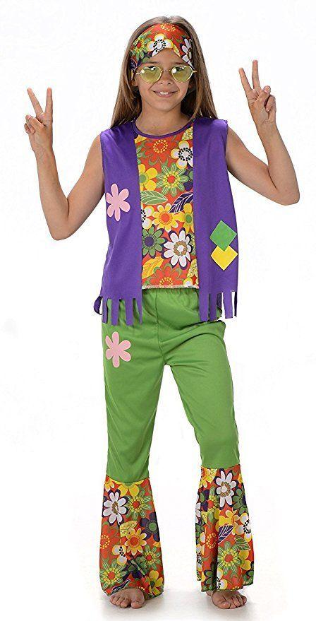 Hippie Madchen Kostum 60er 70er Jahre Hippie Kinder Kinderkostum Fur