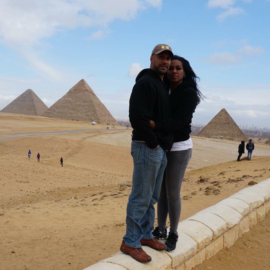 Kenya & Marc on her Surprise birthday trip to Egypt! 🎂💎 ️