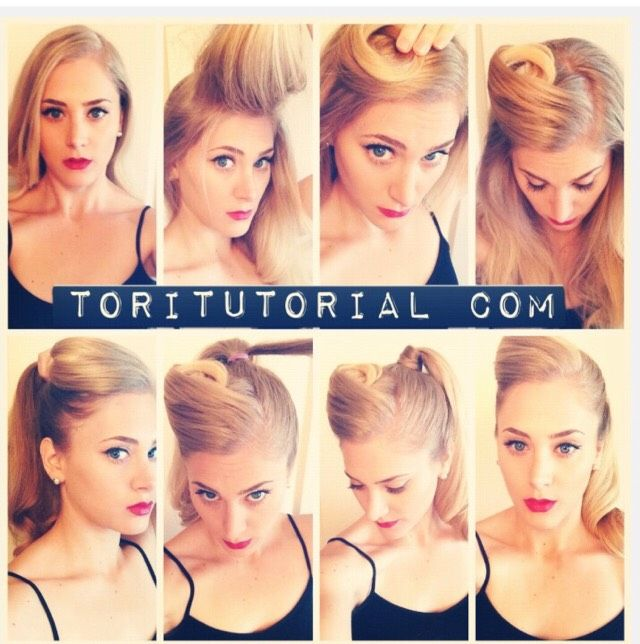 Easy Retro Ponytail 1940s Hairstyles For Long Hair Hair Styles Retro Ponytail