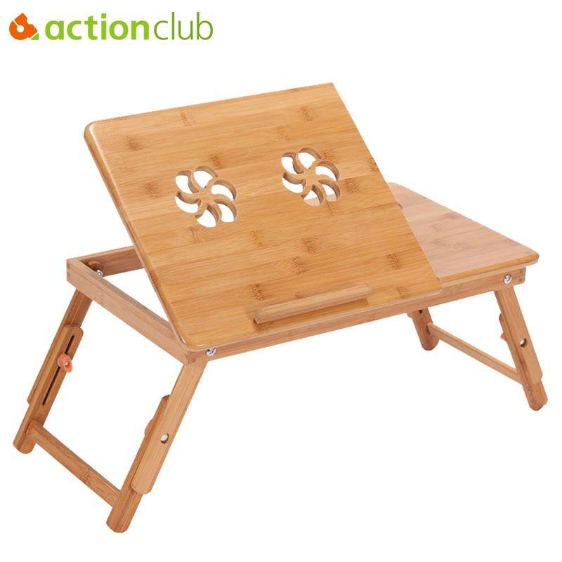 Actionclub Tragbare Falten Bambus Laptop Tisch Sofa Bett Buro Laptop