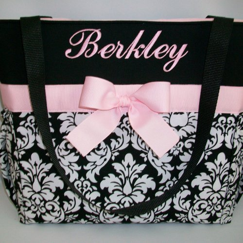 Personalized Diaper Bag Quilted Baby Shower Gift Monogrammed Diapers And