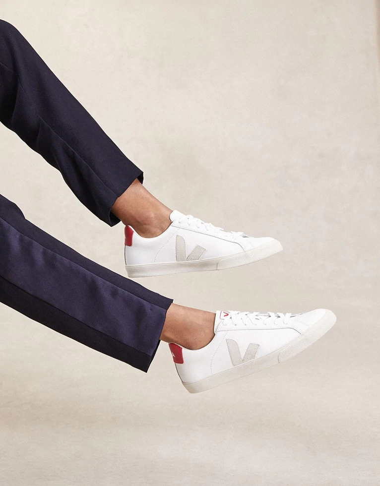 Veja Red Tab Leather Sneakers