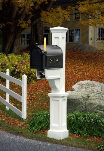 160 Mayne Dover Mailbox Post White Ebay Mailbox Post Dover White Newspaper Holder White mailboxes with posts