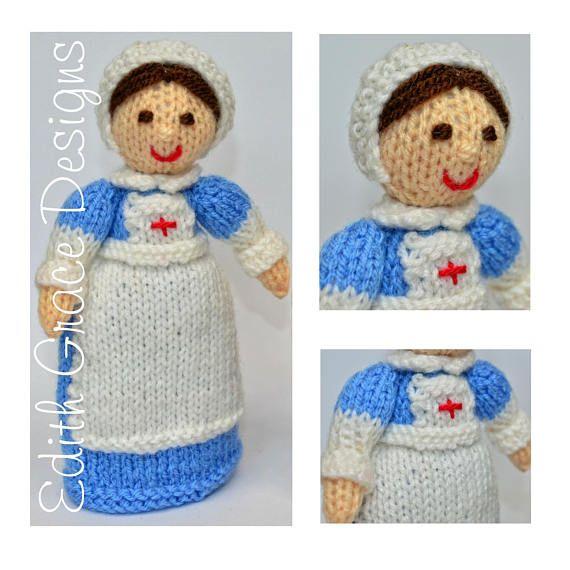 Clara Wwi Red Cross Nurse Doll Beginners Knitting Pattern