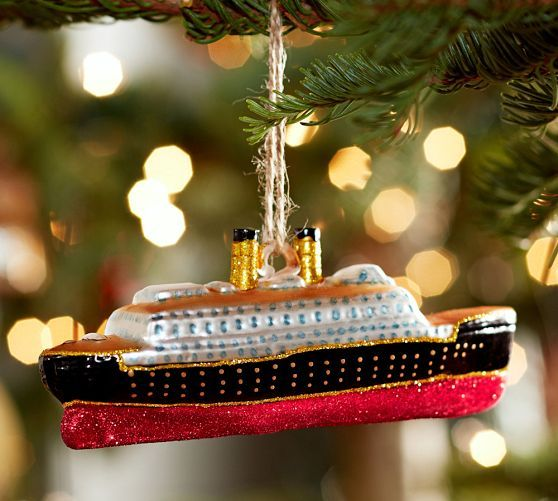Holiday Decor Gift Ideas Pottery Barn Edition All My: Cruise Ship Ornament