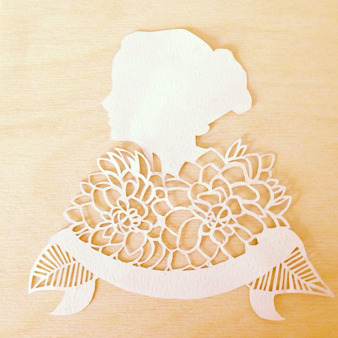 Little lady lady flowers papercutting zoe maire paper cutting little lady lady flowers papercutting mightylinksfo