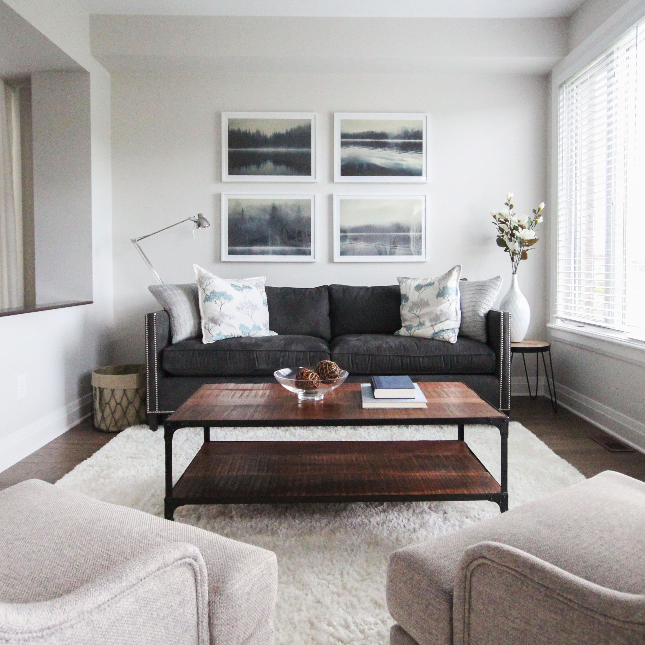 New Home Living Room Designs: Living Room Area In The Richcraft Fairhaven We Decorated