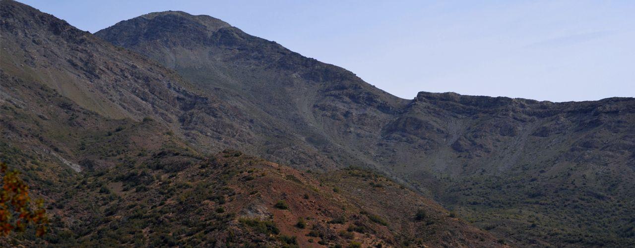 Cerro Mocoén desde la carretera internacional