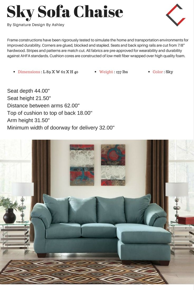 Awesome Ashley Furniture Darcy Sky Sofa Chaise The Classy Home Caraccident5 Cool Chair Designs And Ideas Caraccident5Info