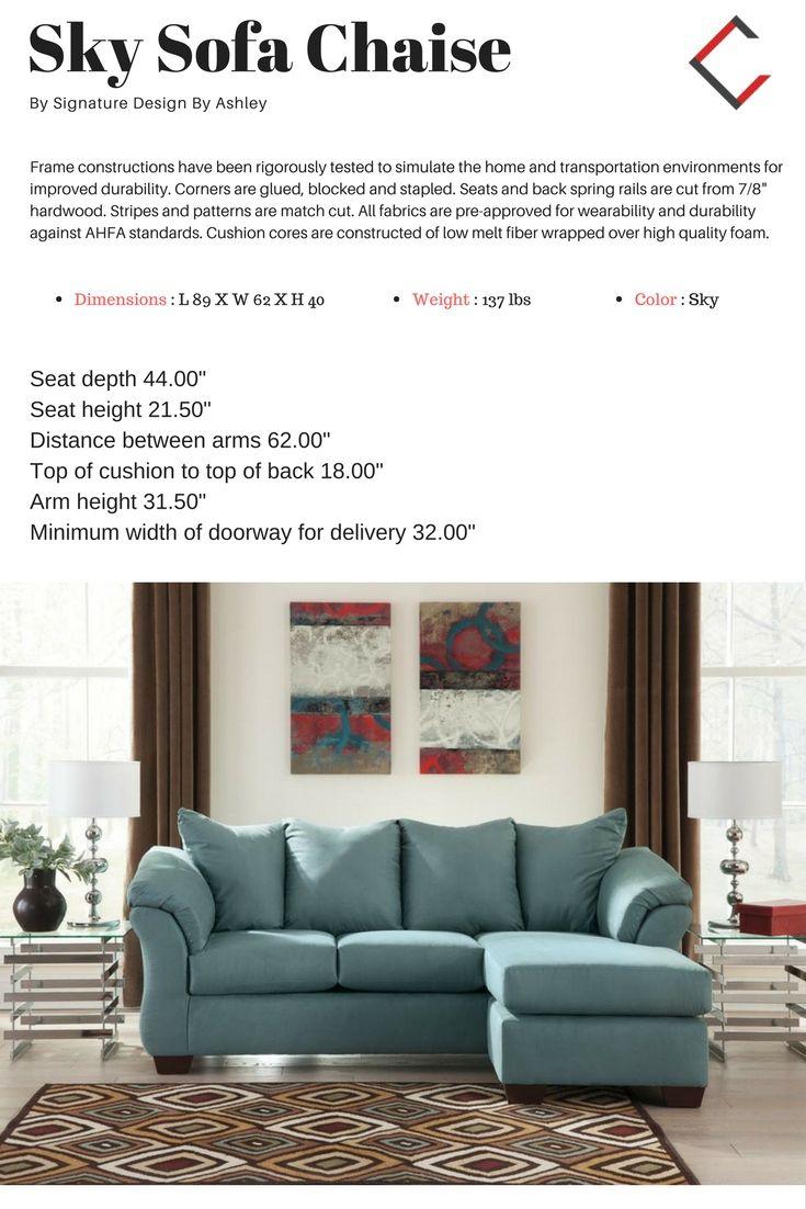 Admirable Ashley Furniture Darcy Sky Sofa Chaise The Classy Home Creativecarmelina Interior Chair Design Creativecarmelinacom