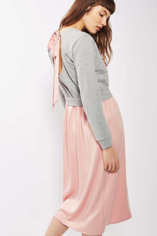 Hybrid Tie Back Midi Dress - New In | TopShop | Pinterest