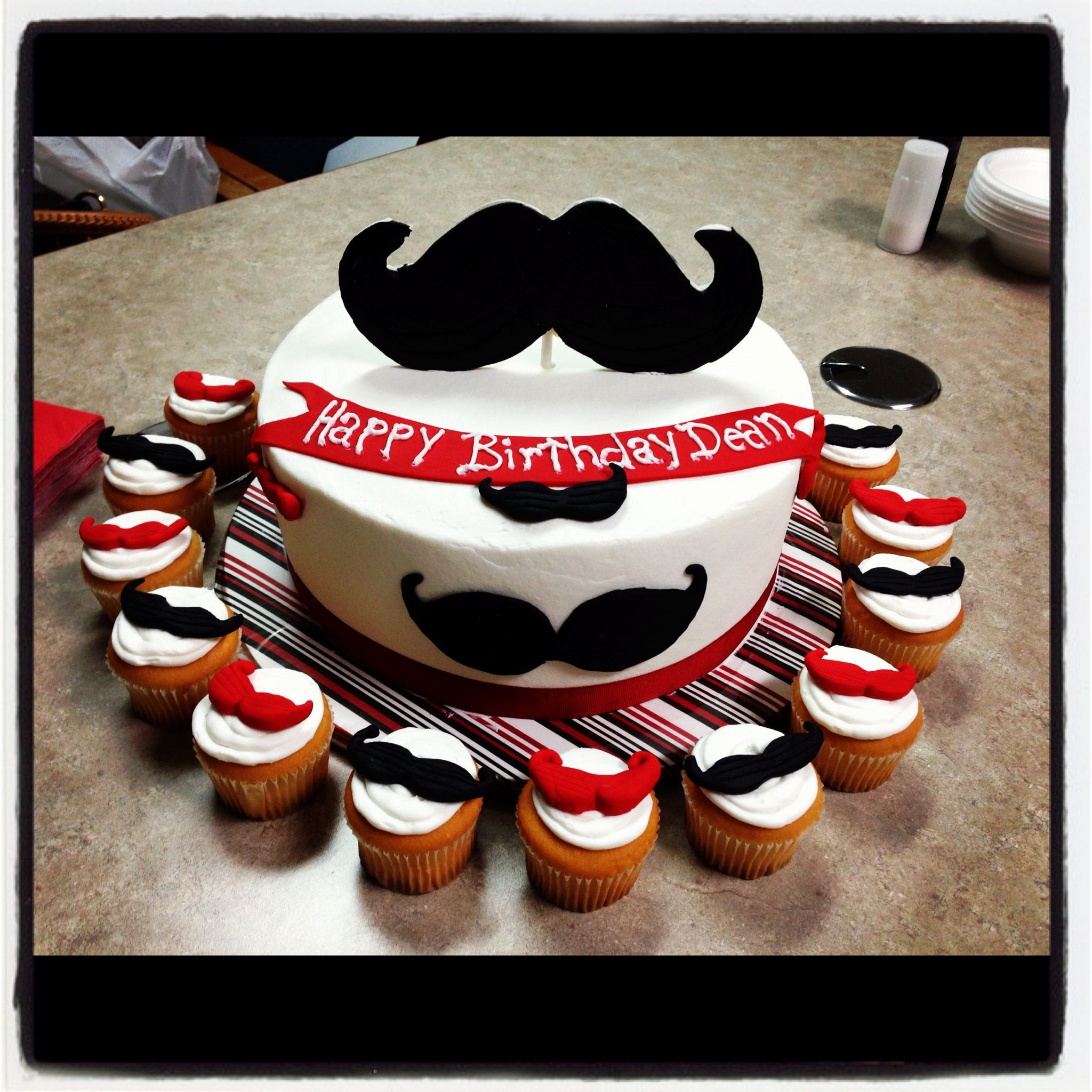 Mustache Birthday Cake Shannon Renz For My Friends Find Your