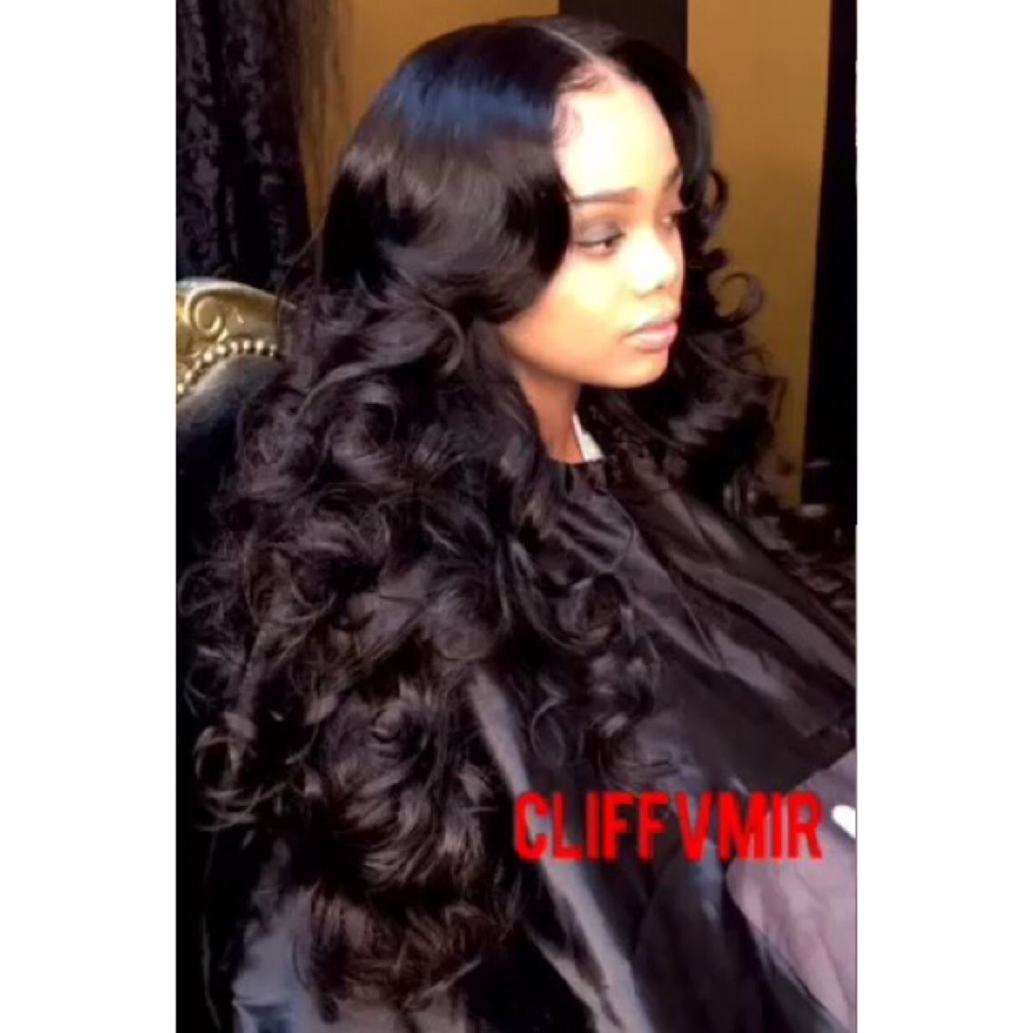 Middle Part Sew In With Curls Hair Slayed Hair Styles Hair