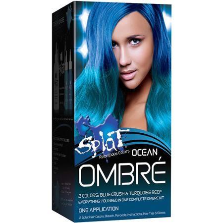 Splat Rebellious Colors Ombre Semi Perm Hair Color Kit Ocean 6 Pc Splat Hair Color Dyed Hair Ombre Splat Hair Dye