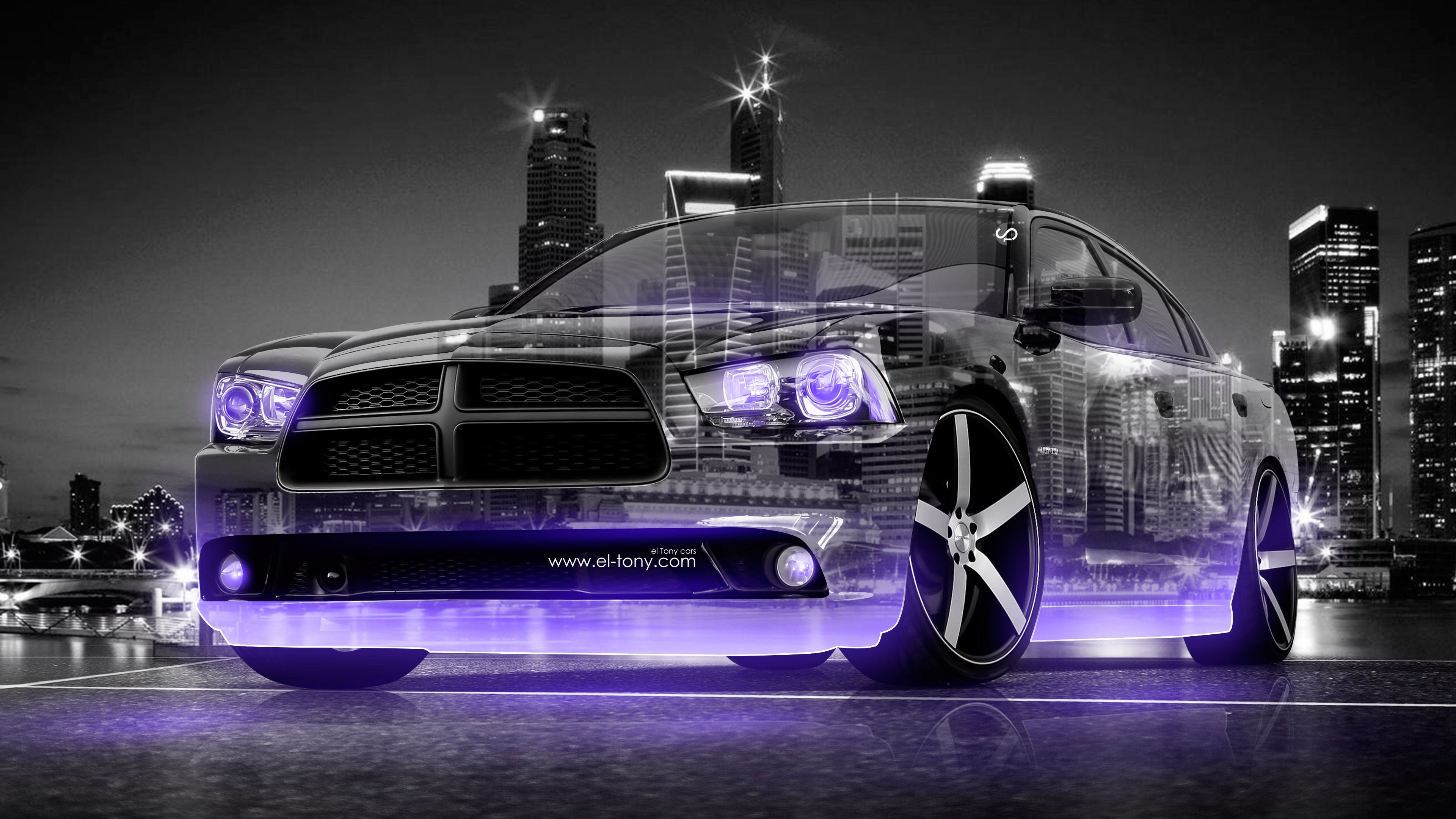 Dodge Charger RT Muscle 3D Crystal City Car