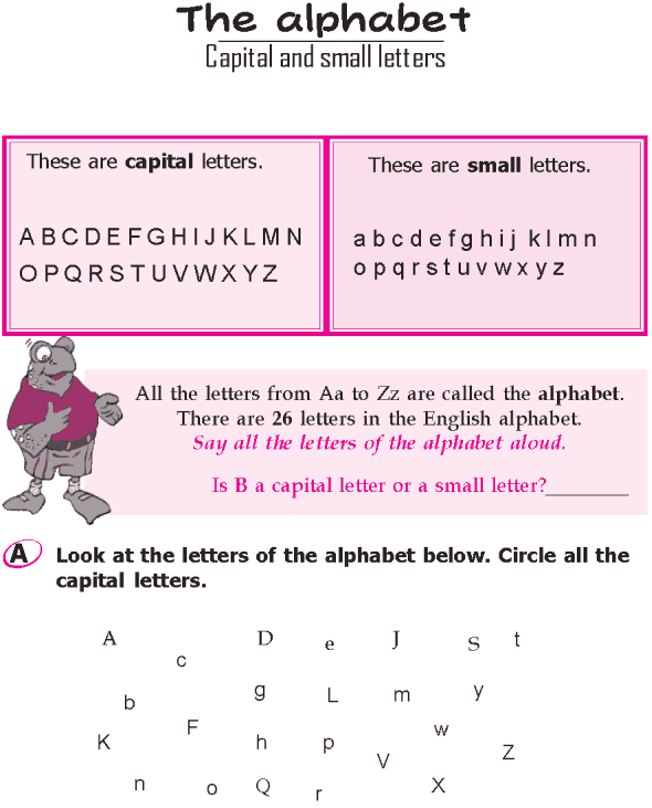 grade 1 grammar lesson 1 the alphabet capital and small letters grammar grammar lessons. Black Bedroom Furniture Sets. Home Design Ideas