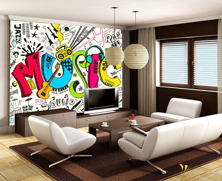 Graffiti Wallpaper For Bedrooms  Google Search  Graffiti Cool Wallpaper Living Room Ideas For Decorating Design Ideas
