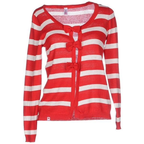 Kling Cardigan (64 AUD) ❤ liked on Polyvore featuring tops, cardigans, red, red top, kling, long sleeve cardigan, lightweight cotton cardigan and long sleeve cotton tops