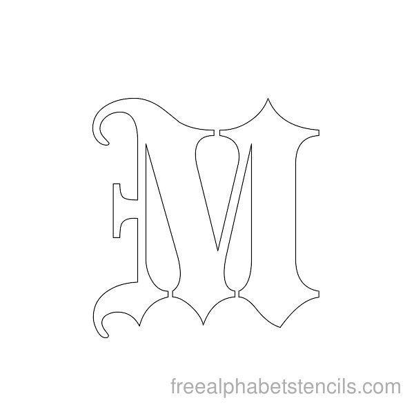 Black Letter Gothic Alphabet M
