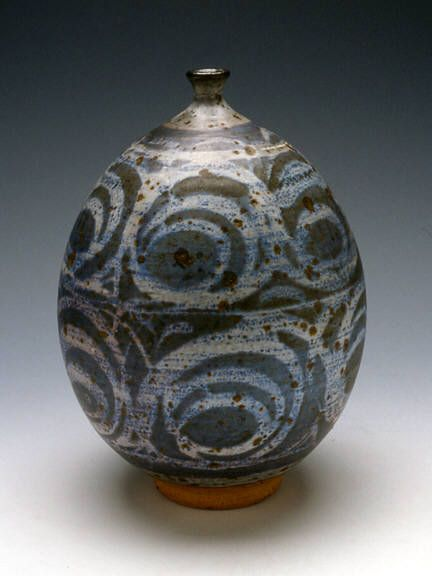 Vase With Wax Resist 1953 By Peter Voulkos Presented By Frank Lloyd Gallery Ceramic Artists Ceramics Ceramic Painting