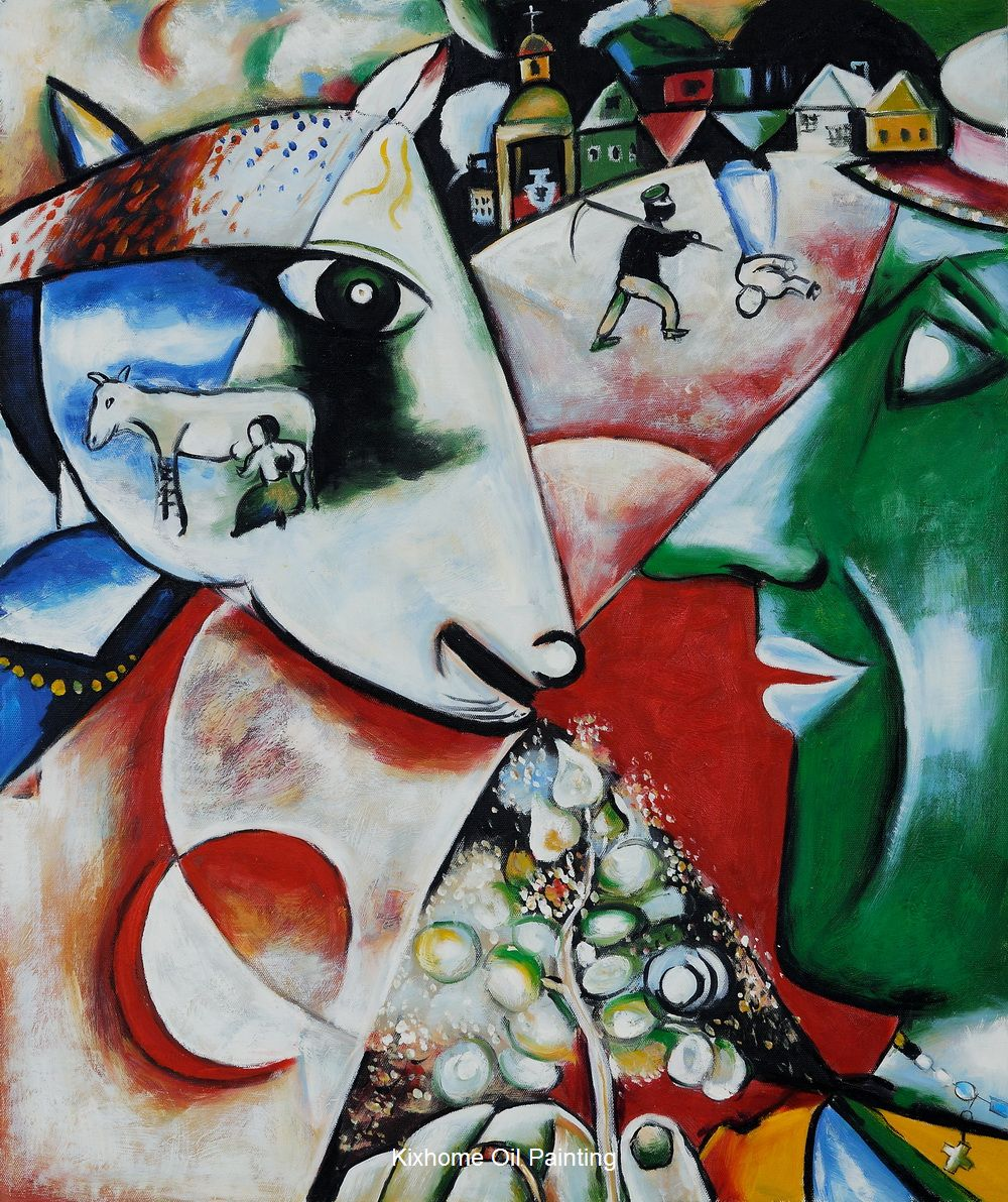 I and the Village by Marc Chagall abstract oil paintings reproduct ...