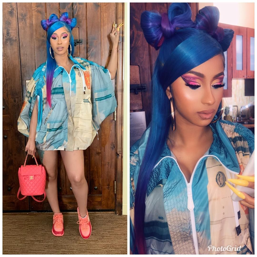 Coachella Ready Makeupbyerikalapearl Hair Done By My Boo Tokyostylez For Her Brows I Used Anastasiabeverlyhills Di Cardi B Lace Wigs Sew In Hairstyles