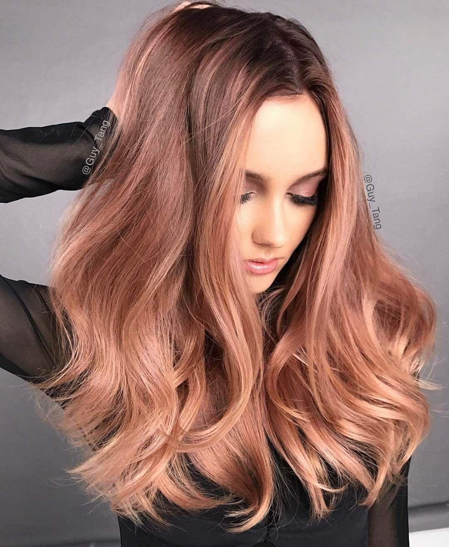 Rose gold hair hair and fashion pinterest rose gold hair gold