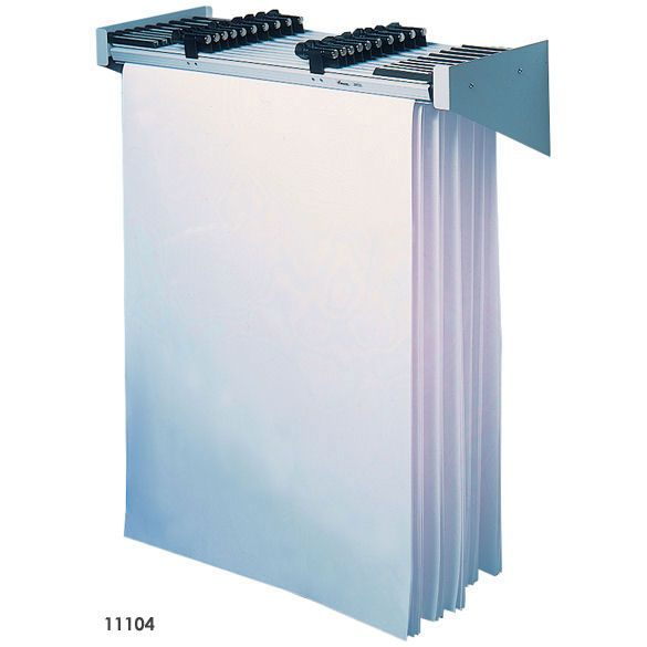 Plans Posters W// 6 File Hanging Clamps AdirOffice Cubicle Rack for Blueprints