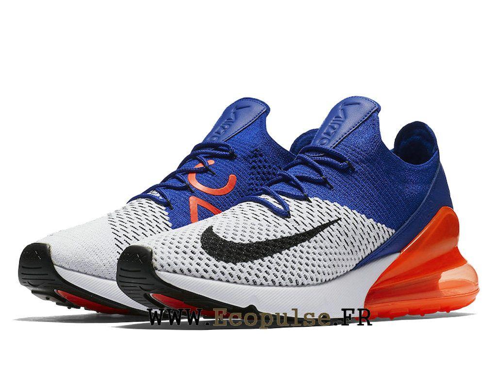 21da11165cf6 Nike Air Max 270 Flyknit Chaussure Officiel Nike Running Prix Pour Homme  Noir Blanc Bleu Rouge