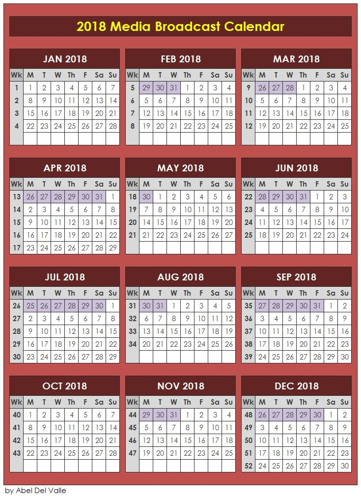 Broadcast Media Calendar  Free Download HttpsGooGl