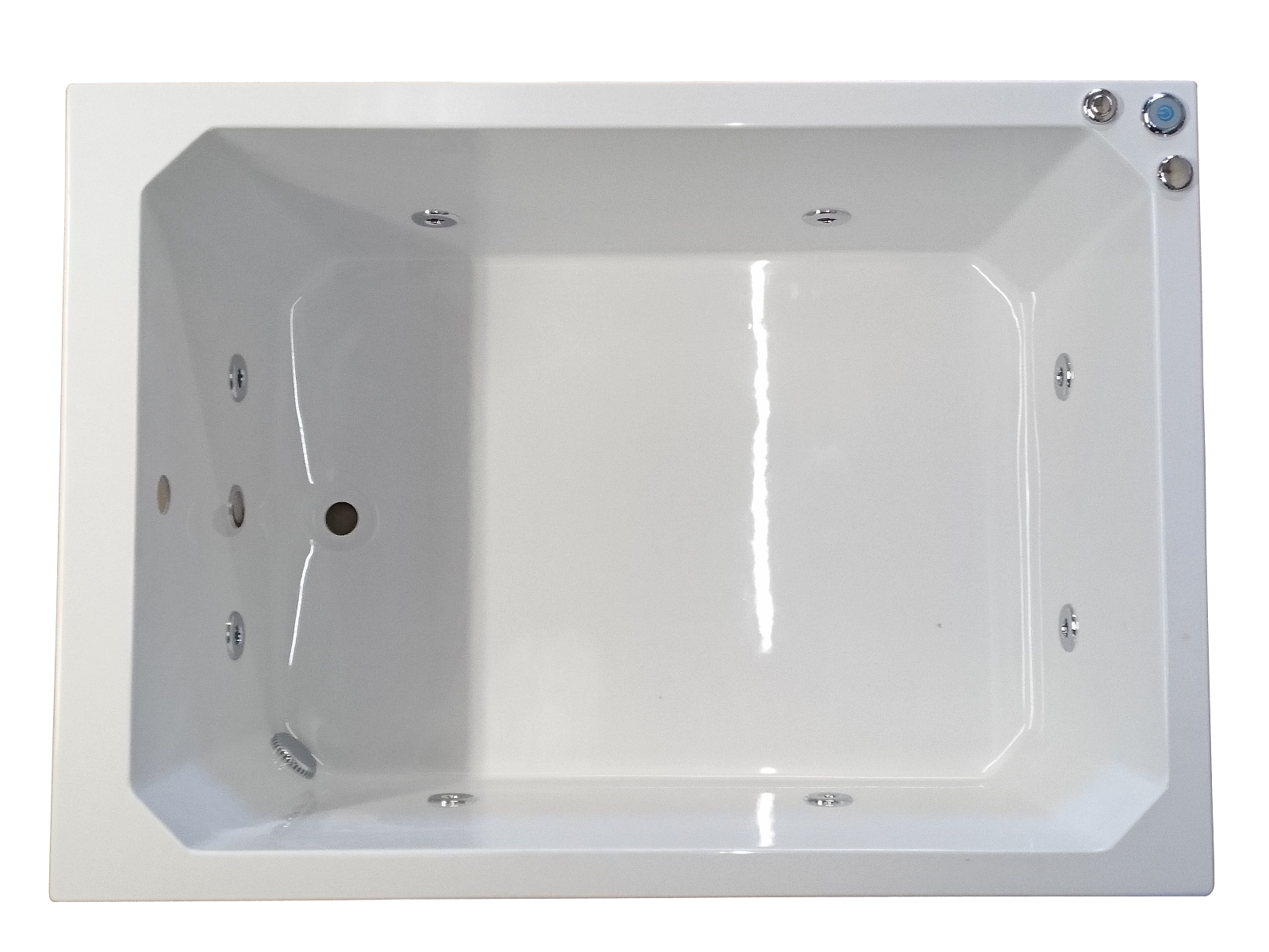 Oriental 1200 x 1000 mm 8 Jet Whirlpool Bath | Japanese Soaking Tubs ...