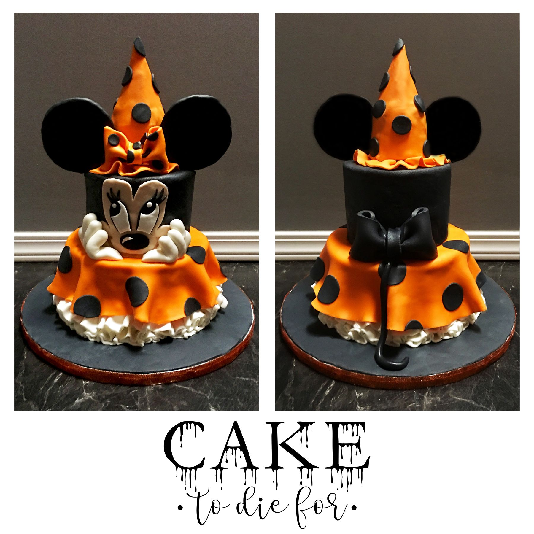 Witch Minnie Mouse Cake for all you Disney / Halloween lovers out - Minnie Mouse Halloween Decorations