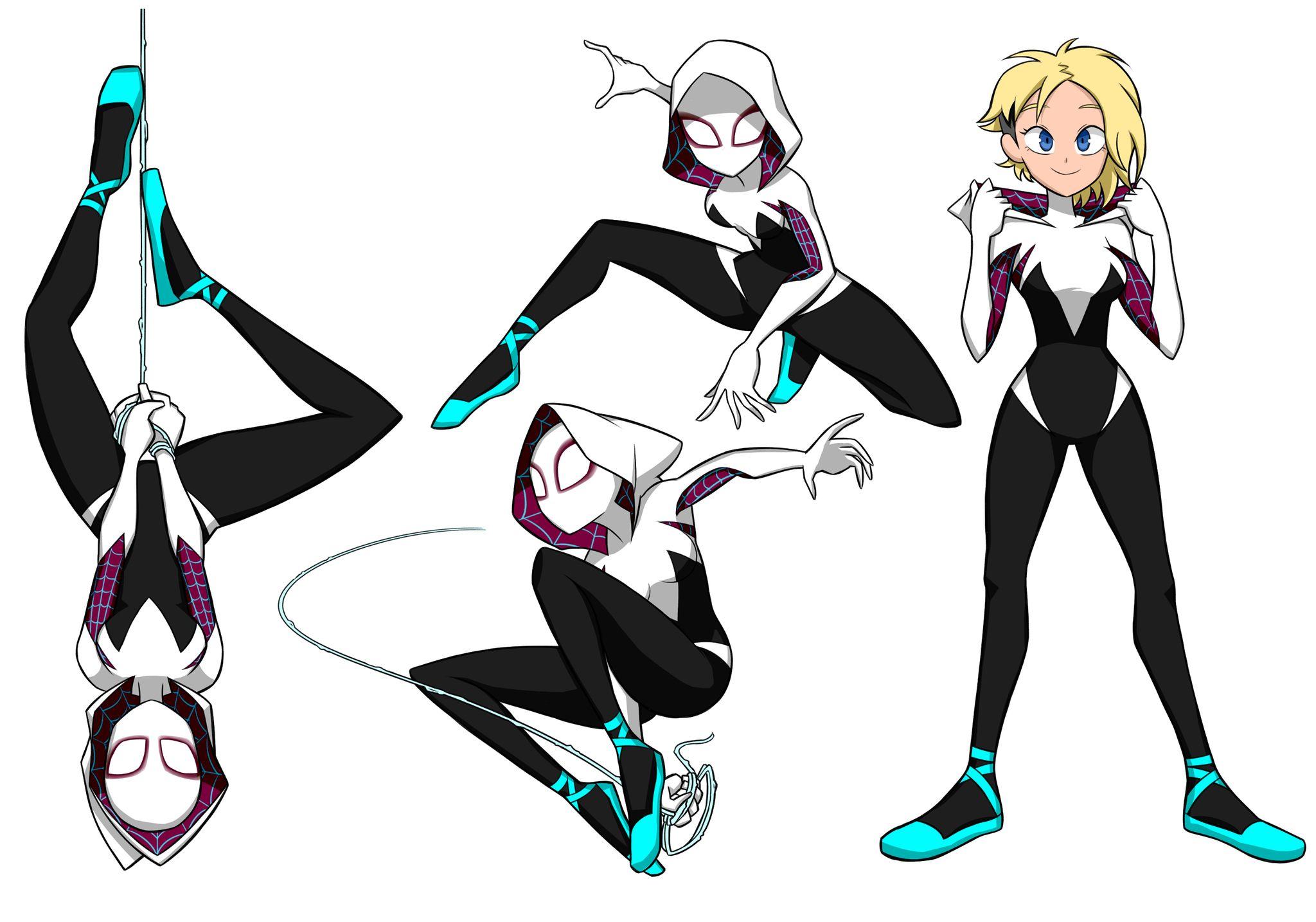 Spidergwen Spider Girl Spiderman Art Spider Gwen