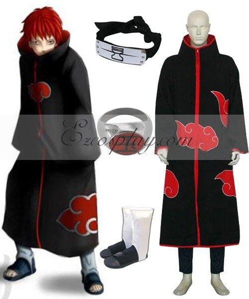 Naruto Akatsuki Sasori Deluxe Cosplay Costume Set