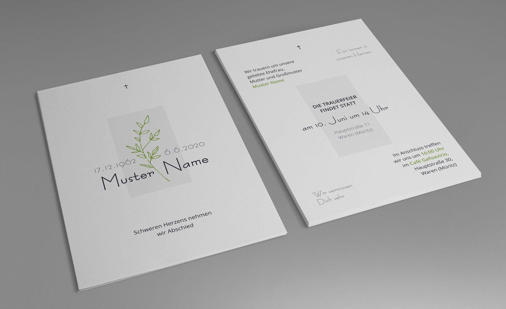Trauerkarten Vorlagen Fur Einladungen Zu Beerdigung Und Trauerfeier In 2020 Trauerkarte Trauerfeier Trauerkarten Gestalten