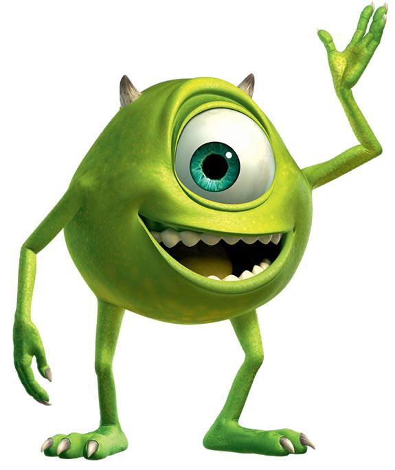 Mike Wazowski Eye Clip Art Walt Disney Pixar Monsters Inc Clipart Disney Clipart Galore Monsters Ink Cute Monsters Monsters Inc