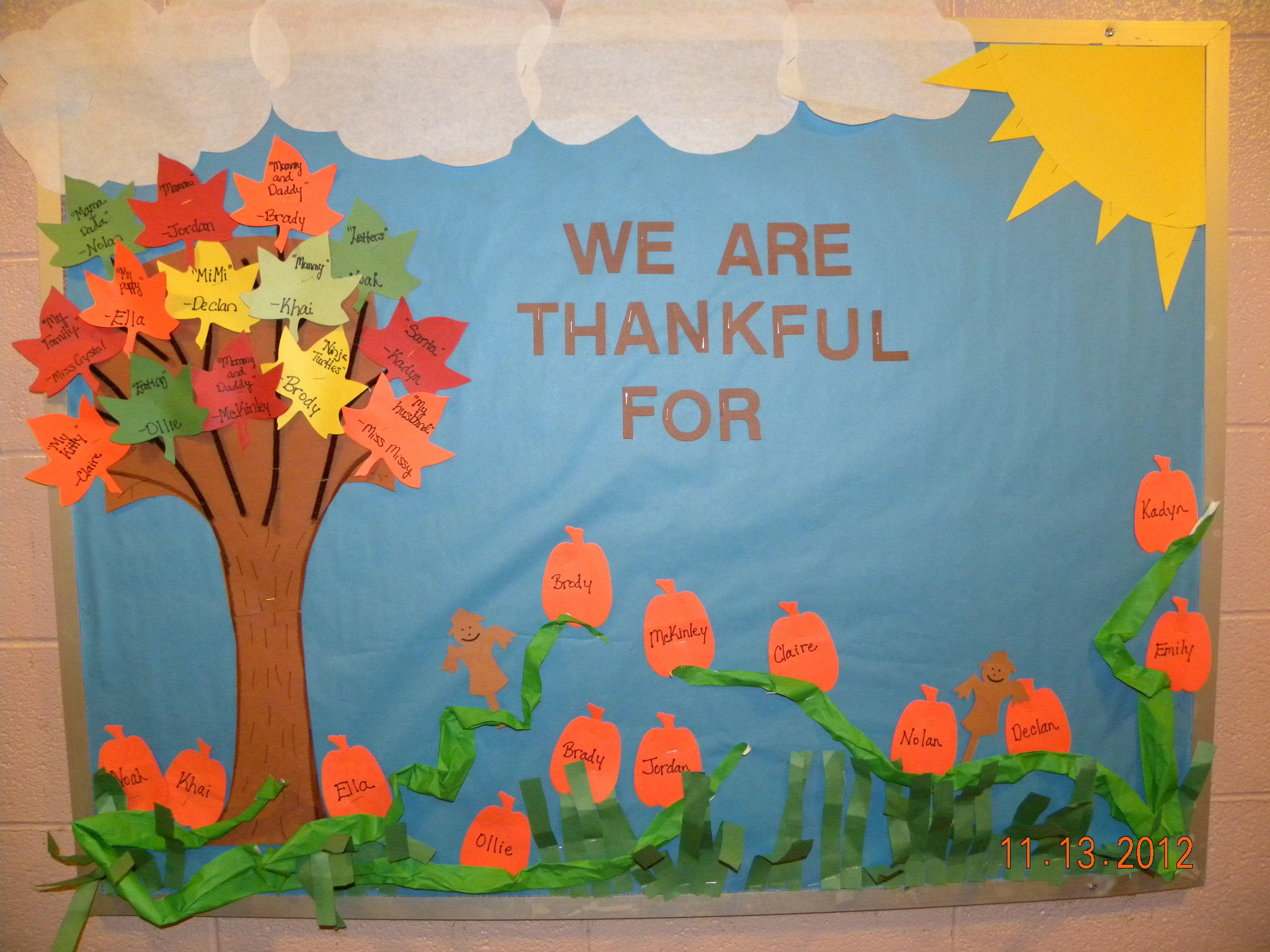 November Bulletin Board Boards Thanksgiving December