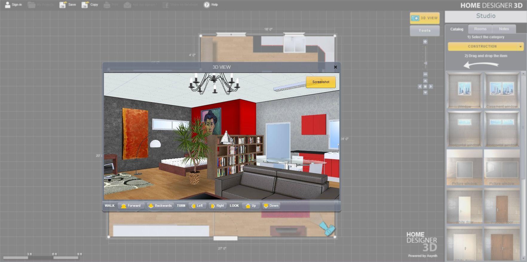 Logiciel architecture gratuit insidoo est accessible en Cuisine 3d en ligne sans telechargement