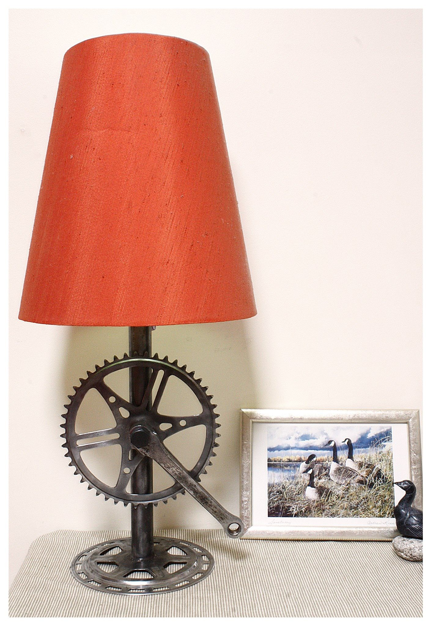 Recycled bike parts lamp base | For the Home | Pinterest | Lamp ...