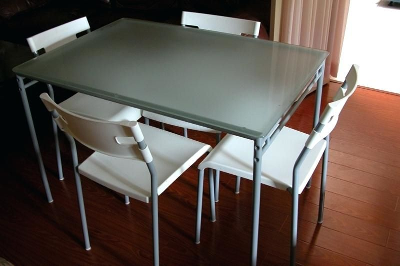 Oval Extendable Frosted Glass Dining Table | Glass dining ...
