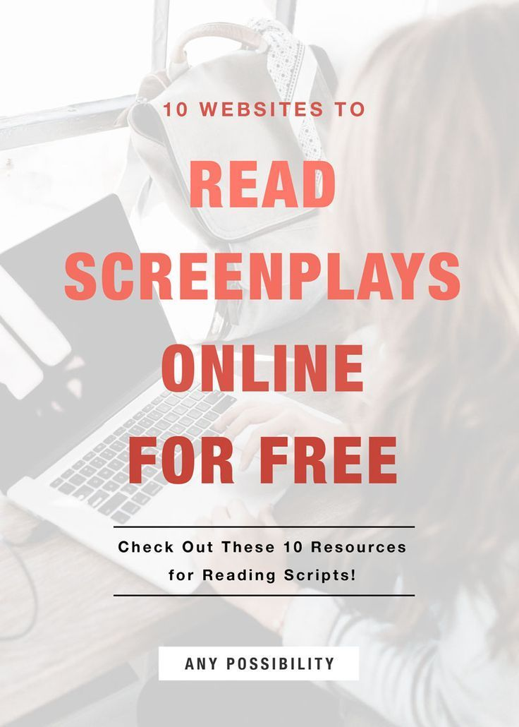 Read Screenplays Online for Free! It\u0027s as easy as checking out these
