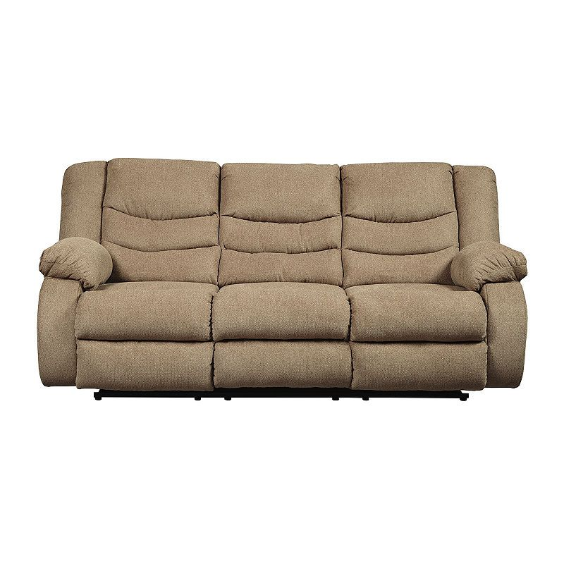 Signature Design By Ashley Henderson Pad Arm Reclining Sofa