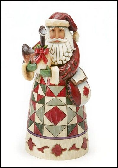 """Jim Shore Heartwood Creek Christmas Traditions  Revel In A Reveillon  Canadian Santa Figure    A customary Canadian Santa with goose and satchel. Part of Santa's Around The World Collection, and at a great gift-giving price!    Specifications:  Size: 7""""H  Materials: Stone Resin  Note: Unique variations should be expected; hand painted      Your Price: $30.00"""
